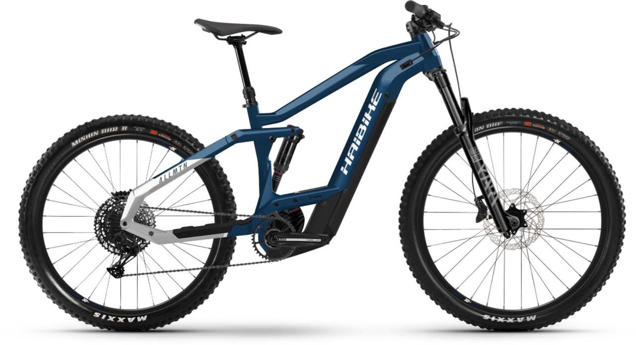Haibike AllMtn 3 i625Wh blue/sparkling white 2021 - E-Bike Fully Mountainbike