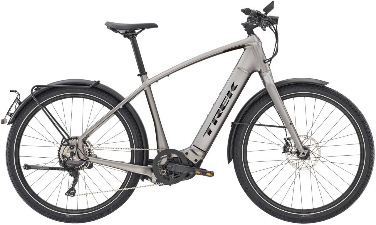 Trek Allant+ 8S Matte Gunmetal 45km/h 2021 - E-Bike Trekkingrad Herren