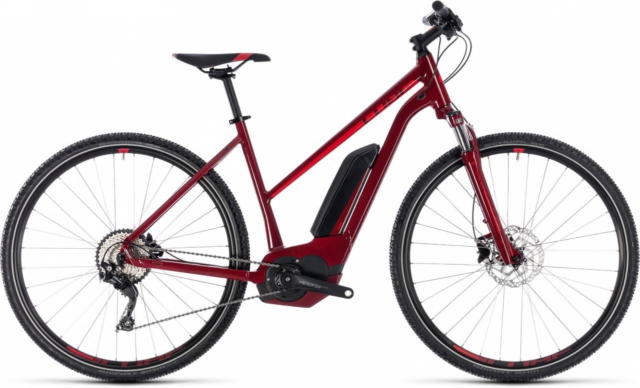 Cube Cross Hybrid Pro 400 darkred n red 2018 - Damen Trapez E-Bike Crossrad