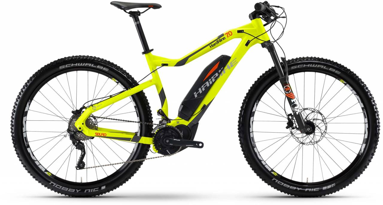 Haibike SDURO HardNine 7.0 500Wh lime/anthr./orange matt 2017 - E-Bike Hardtail Mountainbike
