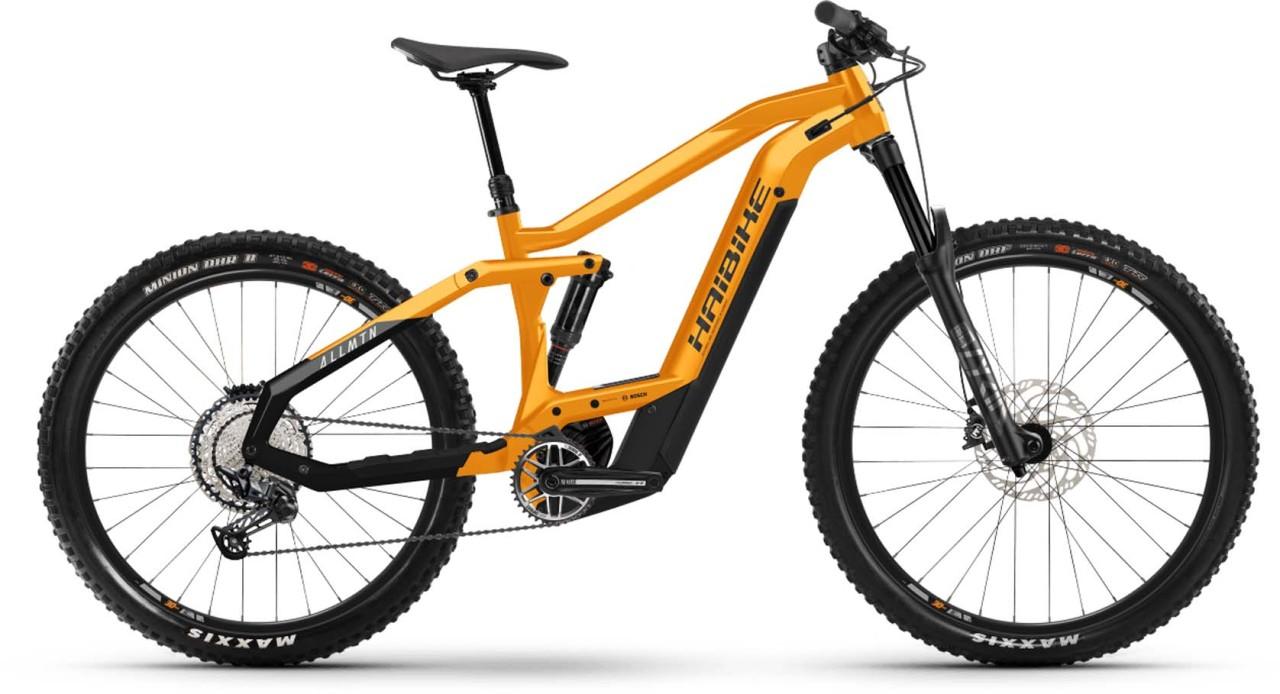 Haibike AllMtn 4 i625Wh lava/black 2021 - E-Bike Fully Mountainbike
