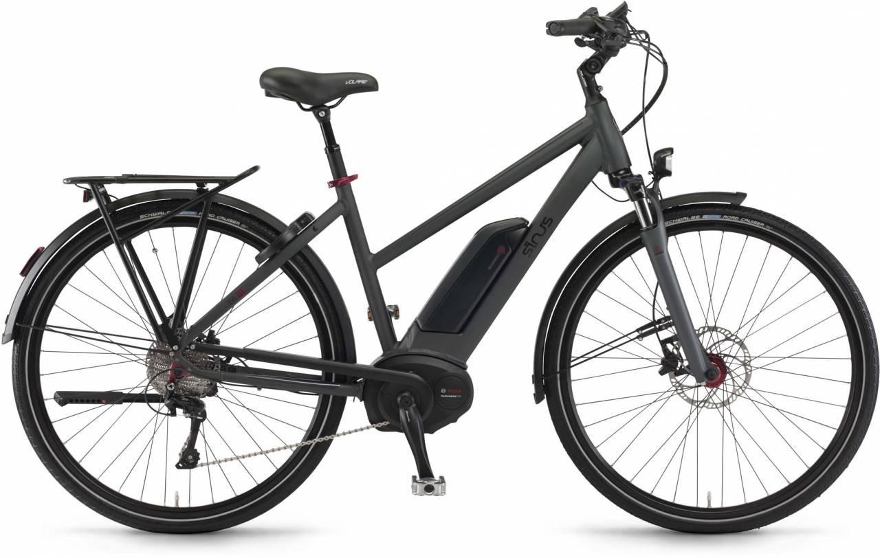 """Sinus Tria 10 500Wh 28"""" mysterypearl matt 2017 - Damen Trapez E-Bike Trekkingrad"""