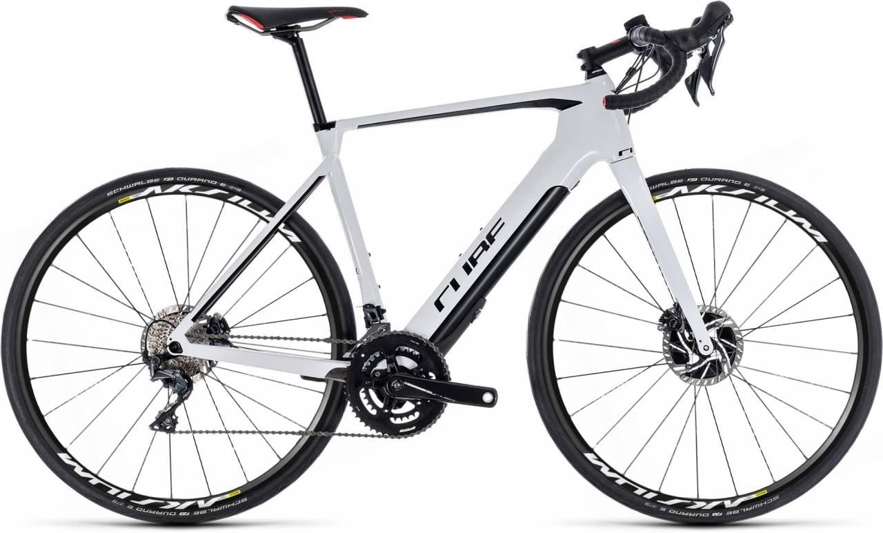 Cube Agree Hybrid C:62 SL Disc Aksium white n black 2018 - E-Bike Rennrad