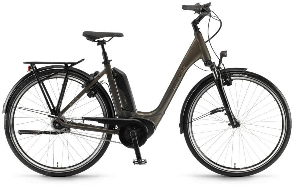"""Winora Tria N8f 500Wh 26"""" FL mineralbraun 2018 - Tiefeinsteiger E-Bike Trekkingrad"""