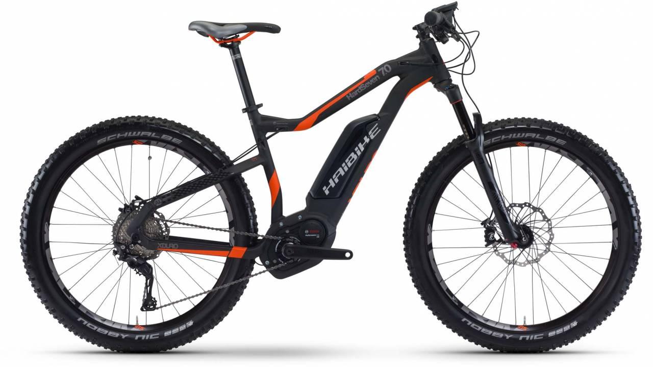 Haibike XDURO HardSeven 7.0 500Wh schwarz/rot/anthr. matt 2017 - E-Bike Hardtail Mountainbike
