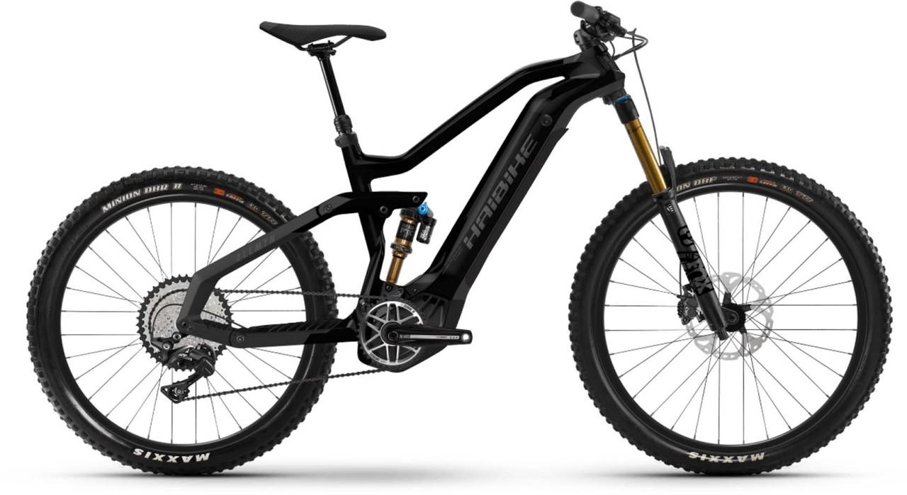 Haibike AllMtn 7 i600Wh black/titan mat./glos. 2021 - E-Bike Fully Mountainbike