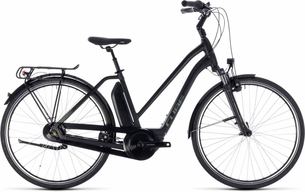 Cube Town Hybrid ONE 400 black n frostgreen 2018 - Damen Trapez E-Bike Trekkingrad