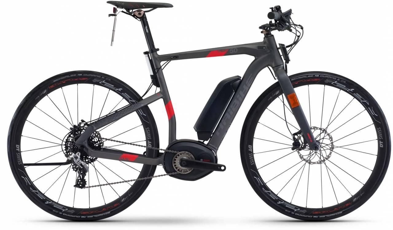 Haibike XDURO Urban S 5.0 500Wh anthrazit/rot matt 2017 - Herren E-Bike Fitnessrad