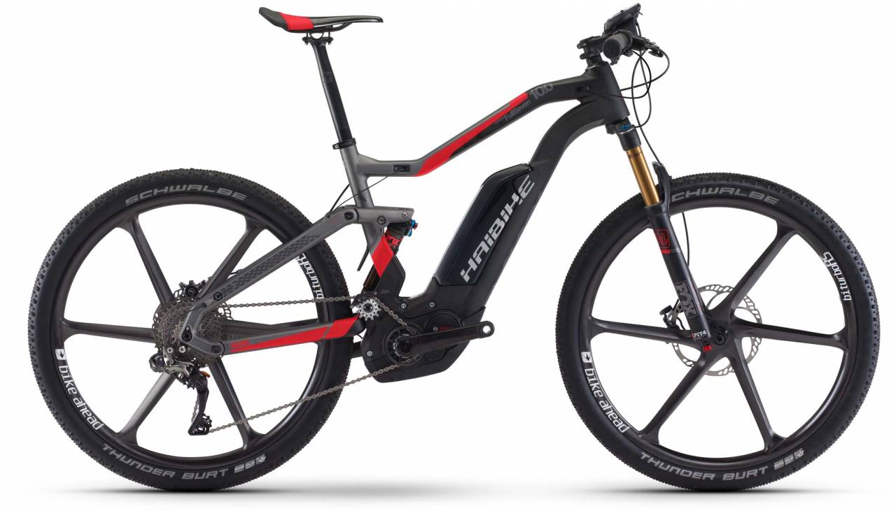 Haibike XDURO FullSeven Carb. 10.0 500Wh carbon/anthr./rot matt 2017 - E-Bike Fully Mountainbike