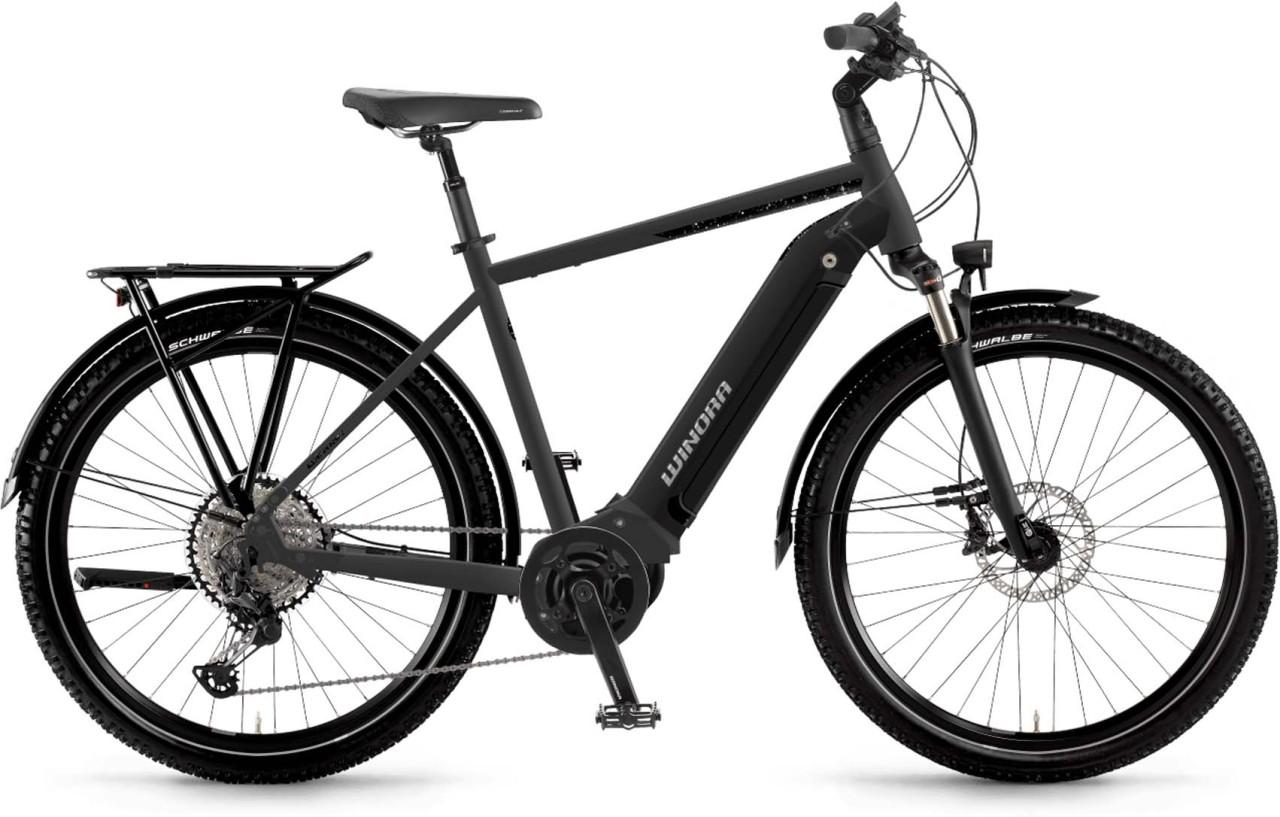 Winora Yucatan 12Pro i630Wh schwarz matt 2021 - E-Bike Trekkingrad Herren