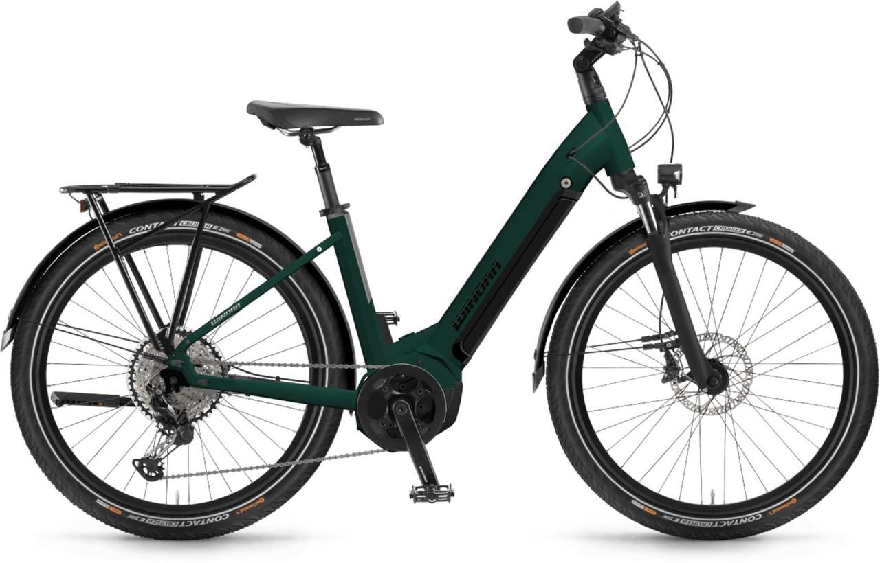 Winora Yucatan 10 i630Wh emerald matt 2021 - E-Bike Trekkingrad Tiefeinsteiger