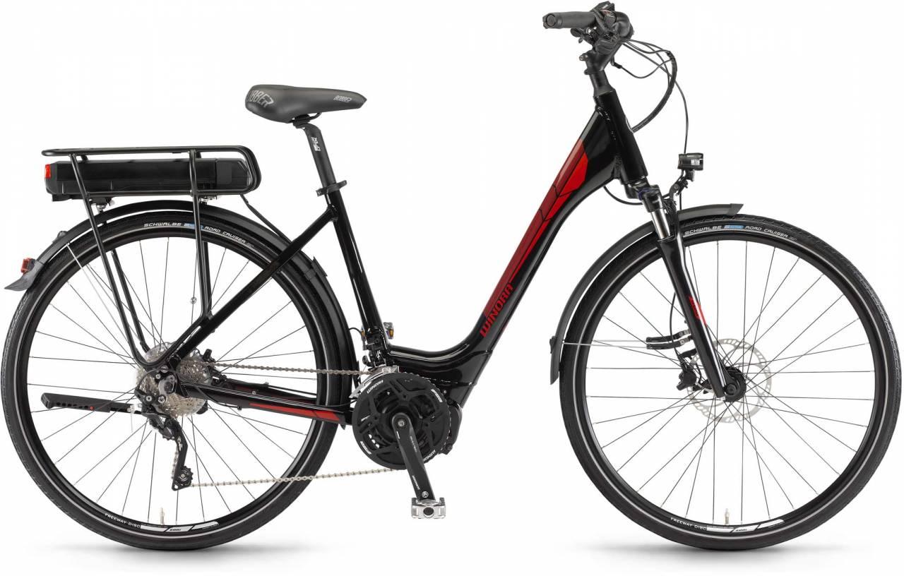 """Winora Y420.X 500Wh 28"""" schwarz 2017 - Tiefeinsteiger E-Bike Trekkingrad"""