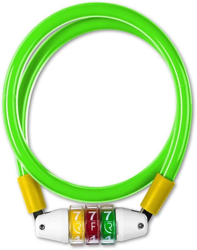 RFR Zahlenkabelschloss Style CMPT green n yellow