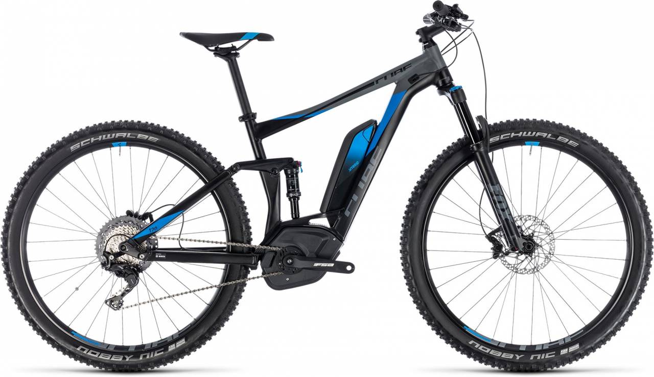Cube Stereo Hybrid 120 EXC 500 black n blue 2018 - E-Bike Fully Mountainbike