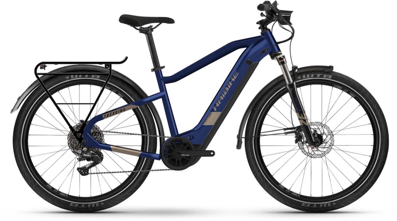 Haibike Trekking 7 i630Wh blue/sand 2021 - E-Bike Trekkingrad Herren
