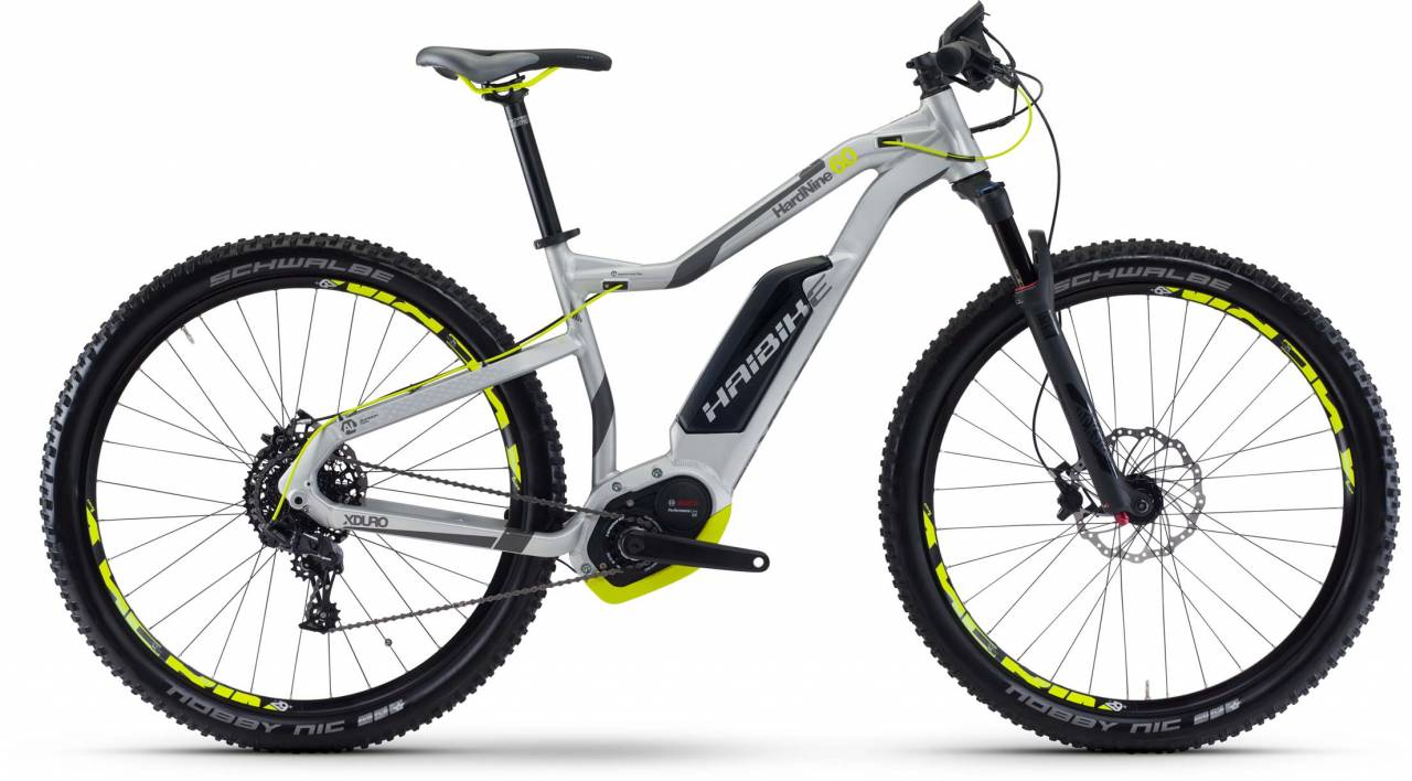 Haibike XDURO HardNine 6.0 500Wh silber/anthr./lime matt 2017 - E-Bike Hardtail Mountainbike