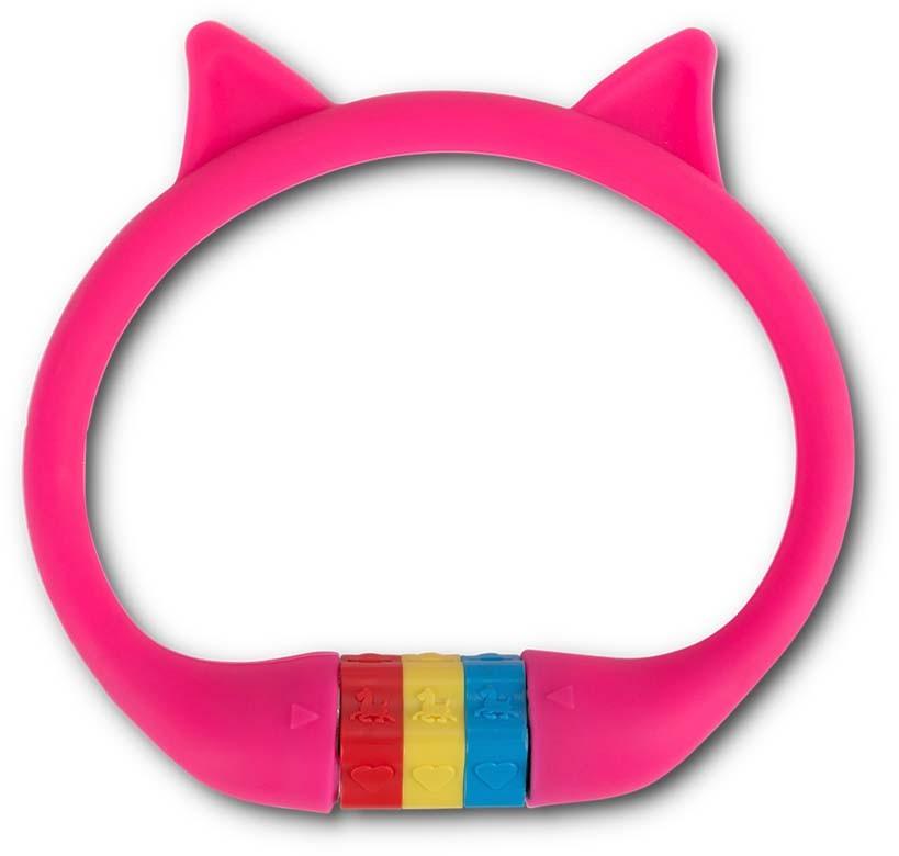 """RFR Zahlenkabelschloss HPS """"CAT"""" 10 x 350 mm pink"""