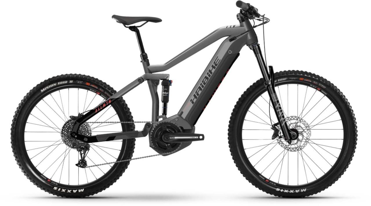 Haibike AllMtn 2 i630Wh titan/black/coral 2021 - E-Bike Fully Mountainbike