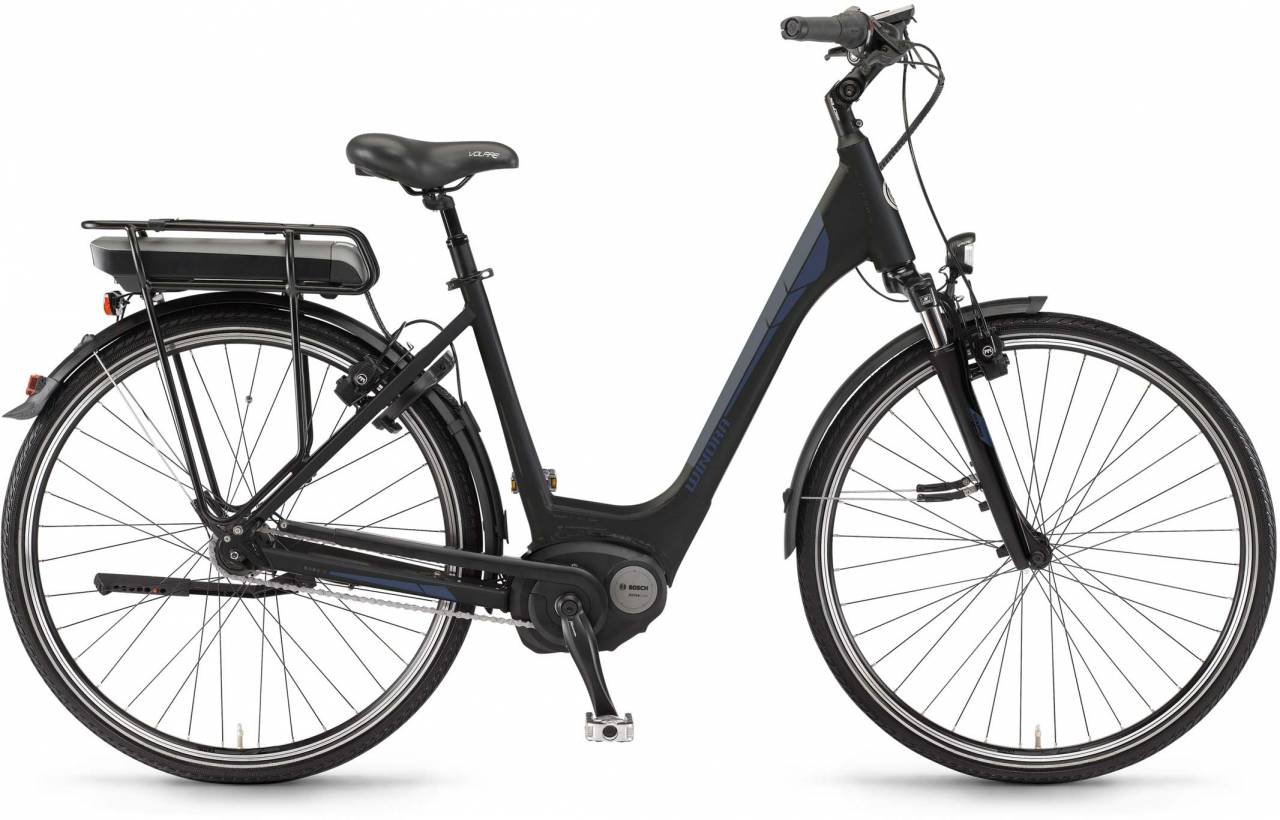"Winora B380.C 500Wh 26"" RT schwarz matt 2017 - Tiefeinsteiger E-Bike Trekkingrad"