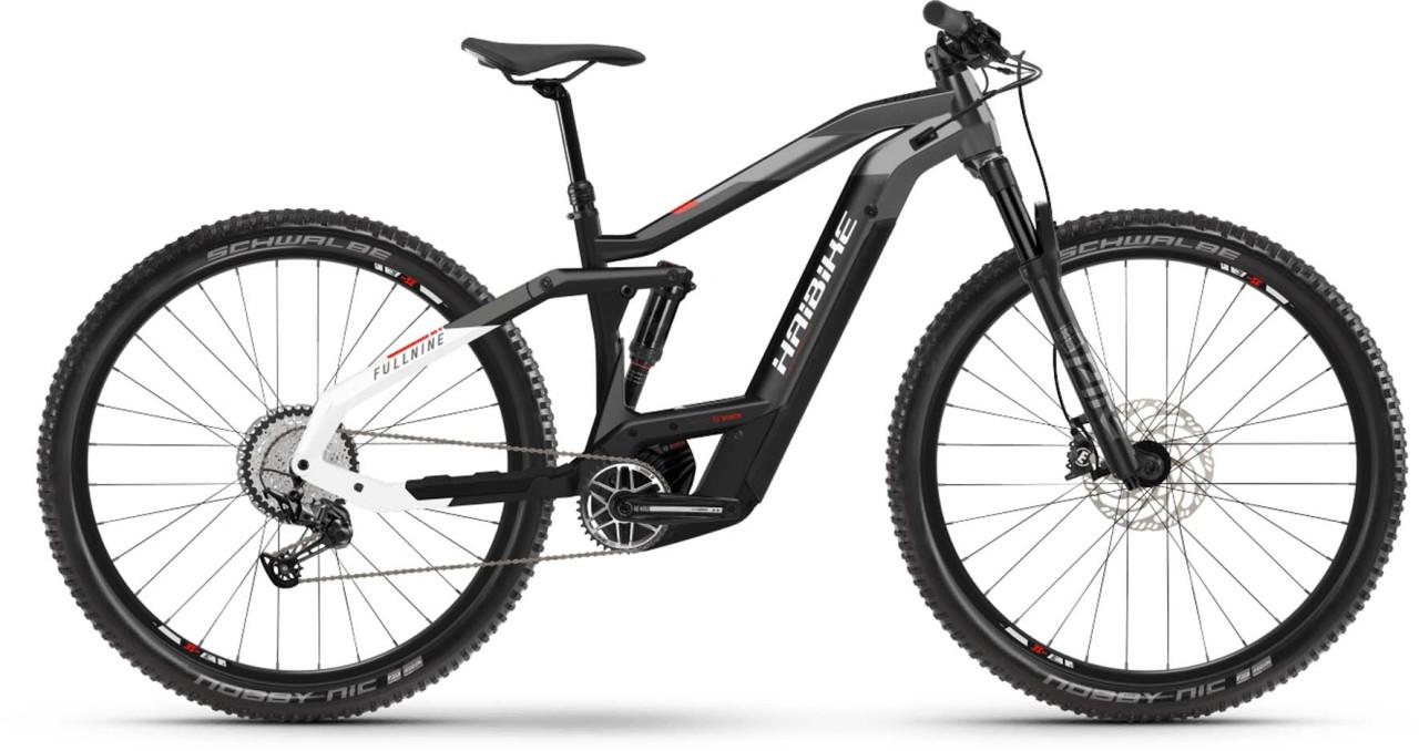 Haibike FullNine 9 i625Wh black/titan/white 2021 - E-Bike Fully Mountainbike