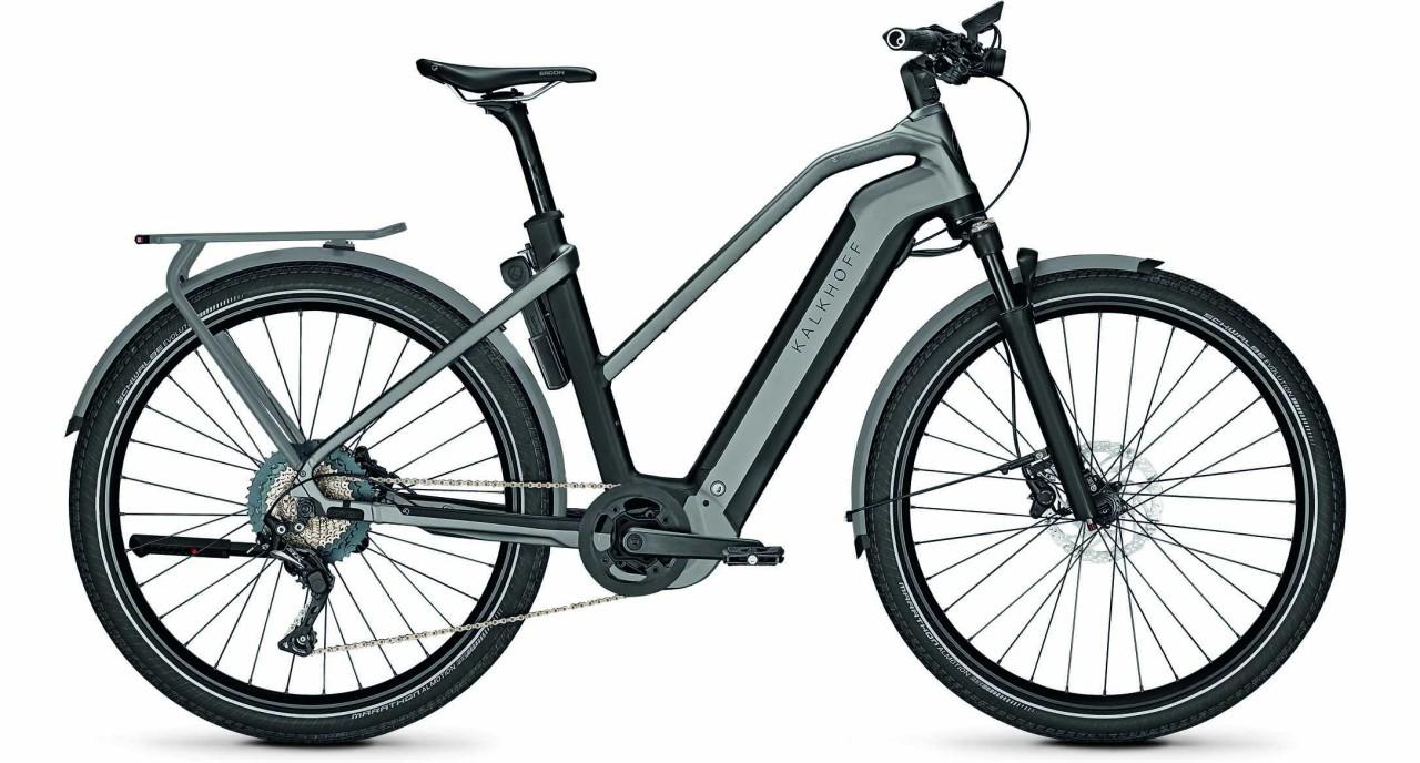 Kalkhoff Endeavour 7.B Advance magicblack/jetgrey matt (Trapez) 2021 - E-Bike Trekkingrad Damen