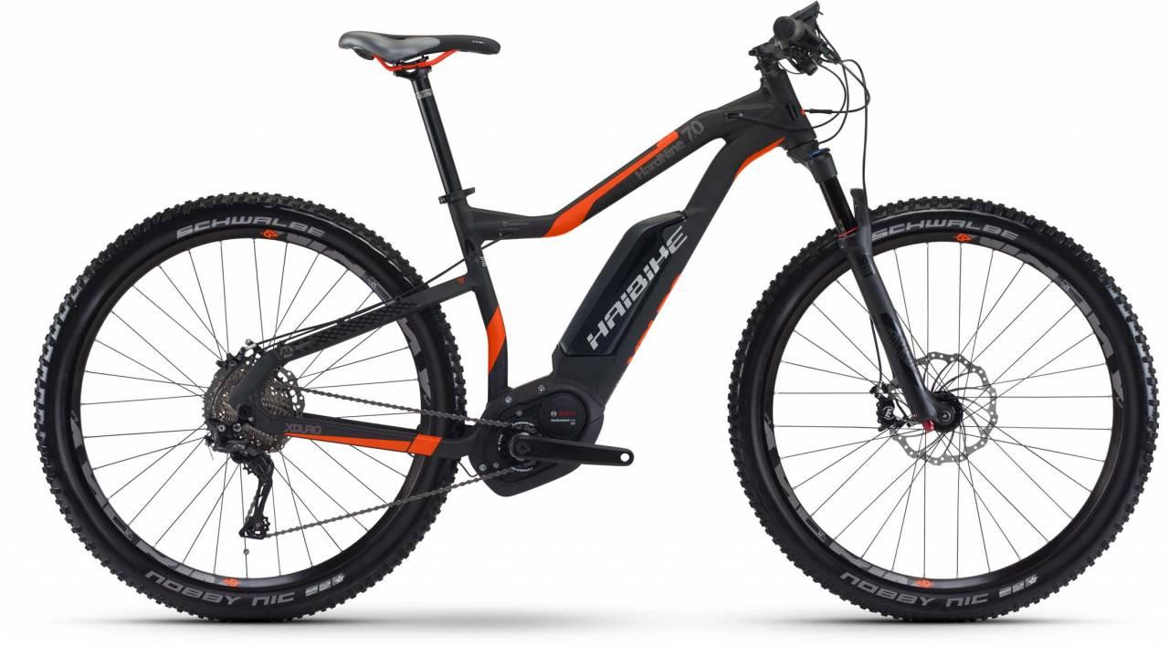 Haibike XDURO HardNine 7.0 500Wh schwarz/rot/anthr. matt 2017 - E-Bike Hardtail Mountainbike