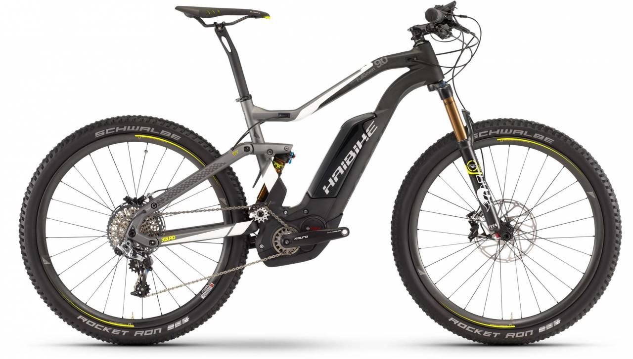 Haibike XDURO FullSeven Carbon 9.0 500Wh carbon/weiß/lime matt 2017 - E-Bike Fully Mountainbike