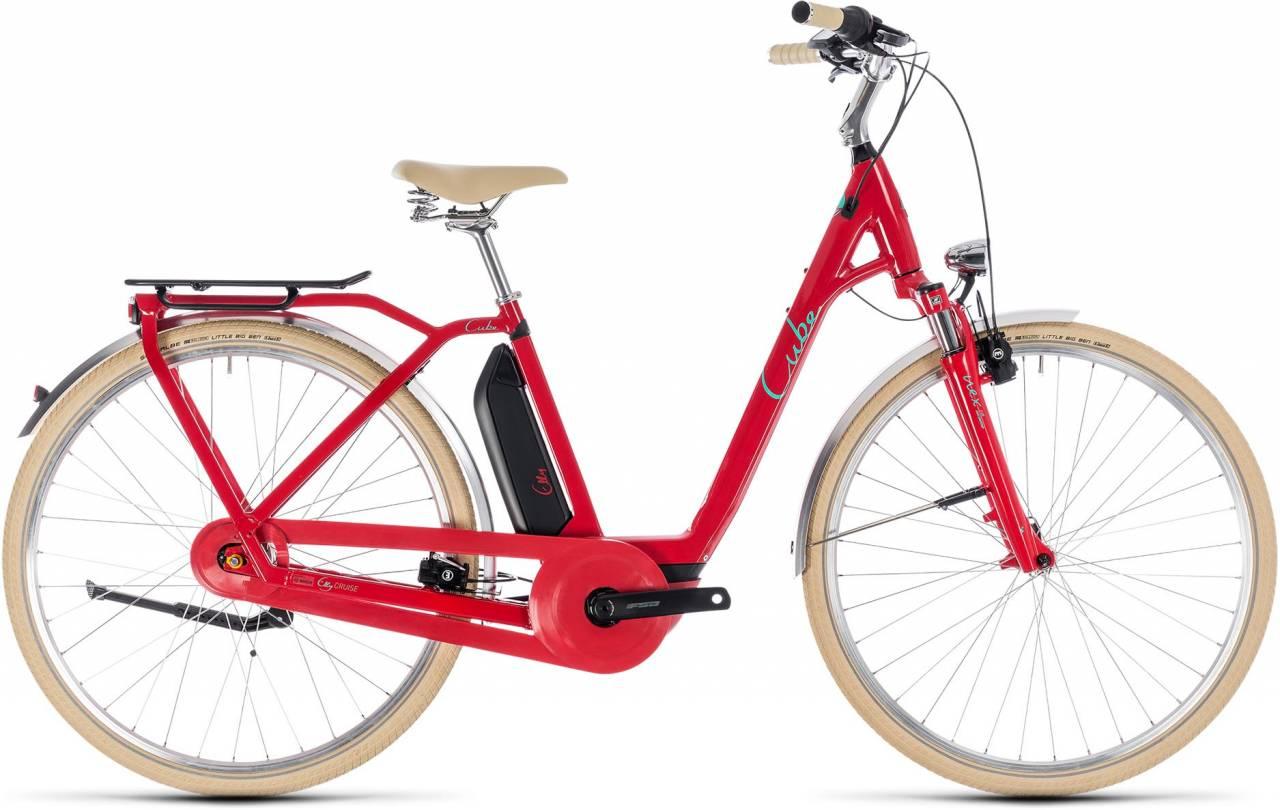 Cube Elly Cruise Hybrid 500 red n mint 2018 - Tiefeinsteiger Retro E-Bike Trekkingrad