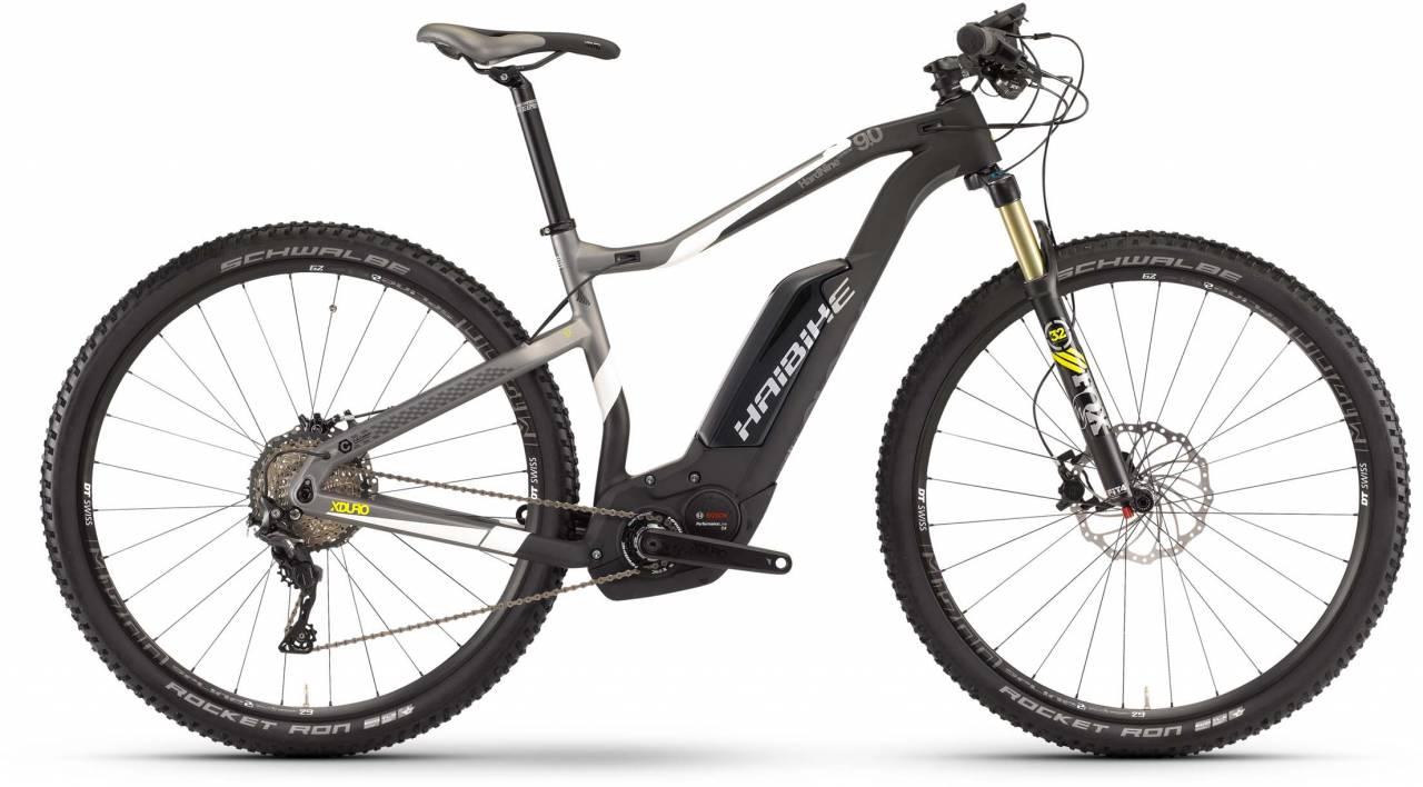 Haibike XDURO HardNine Carbon 9.0 500Wh carbon/weiß/lime matt 2017 - E-Bike Hardtail Mountainbike