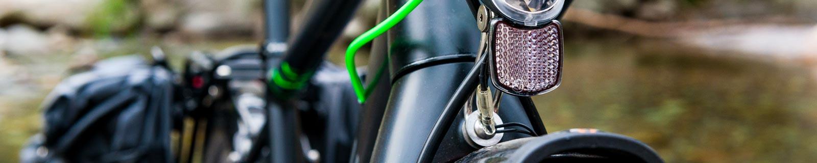 Cannondale Fahrrad Reflektoren Set Beleuchtungsset Frontstrahler-Rückstrahler