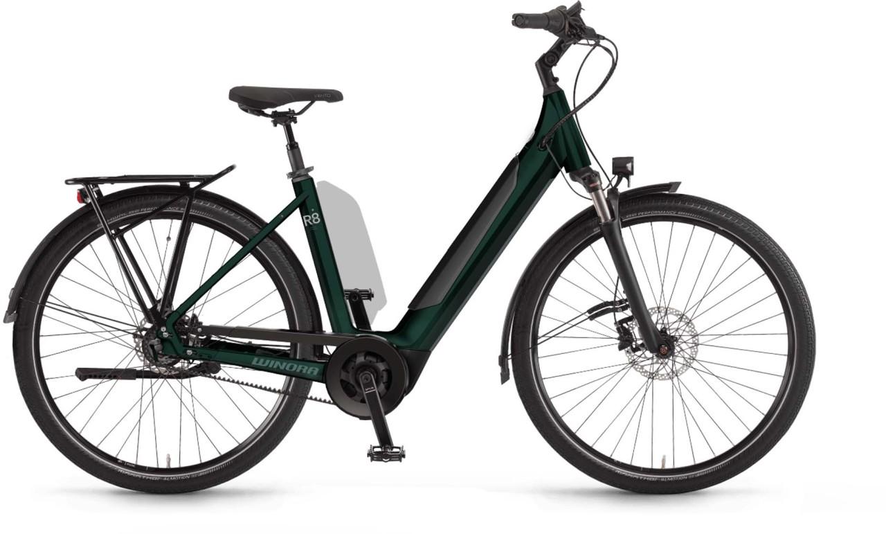 Winora Sinus R8f i625Wh shadowgreen 2021 - E-Bike Trekkingrad Tiefeinsteiger
