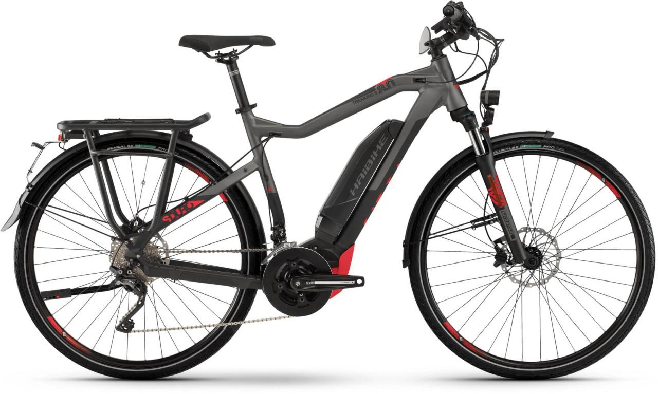 Haibike SDURO Trekking S 8.0 500Wh schwarz/titan/rot matt - Herren 2020