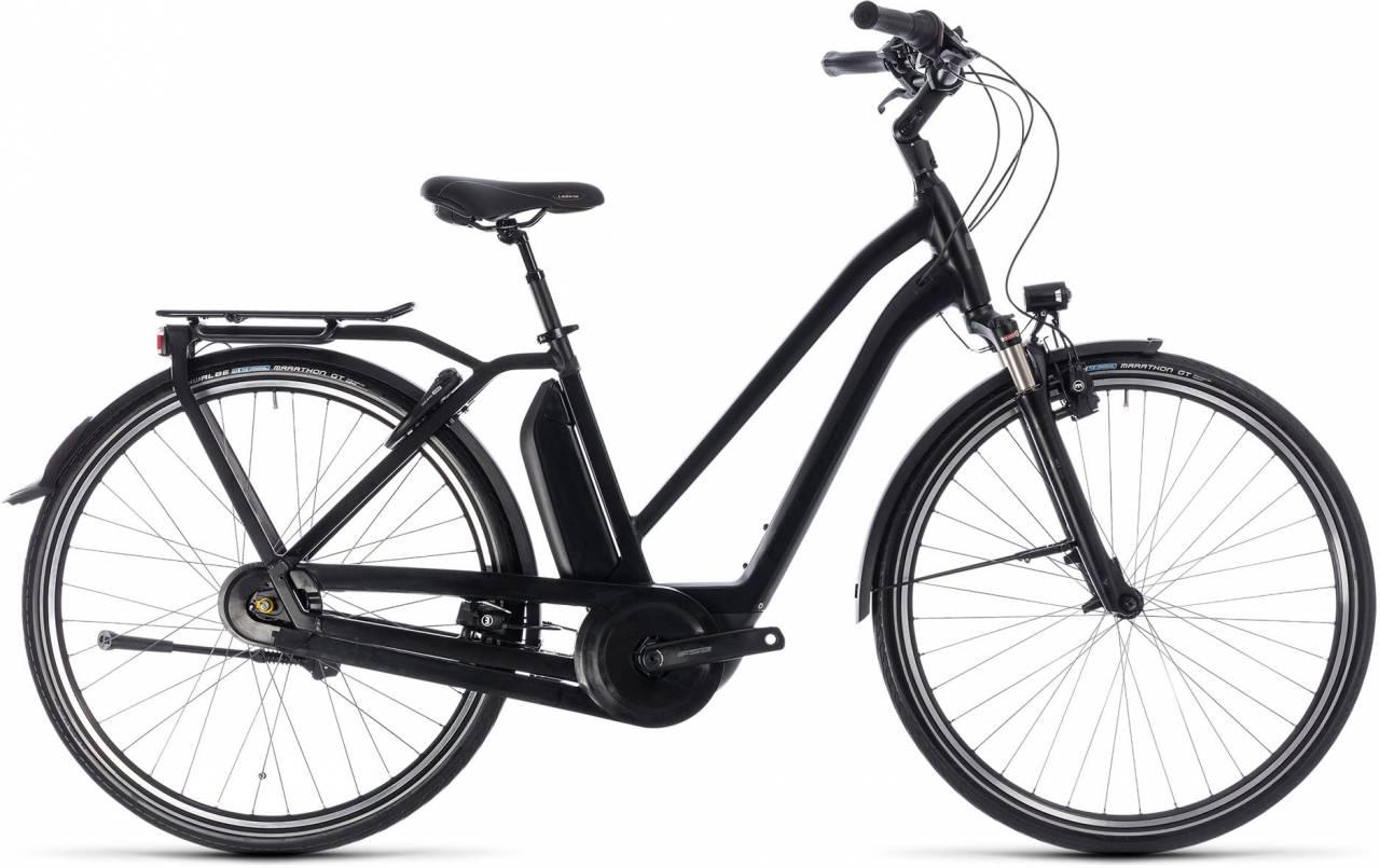 Cube Town Hybrid Pro 500 black n grey 2018 - Damen Trapez E-Bike Trekkingrad