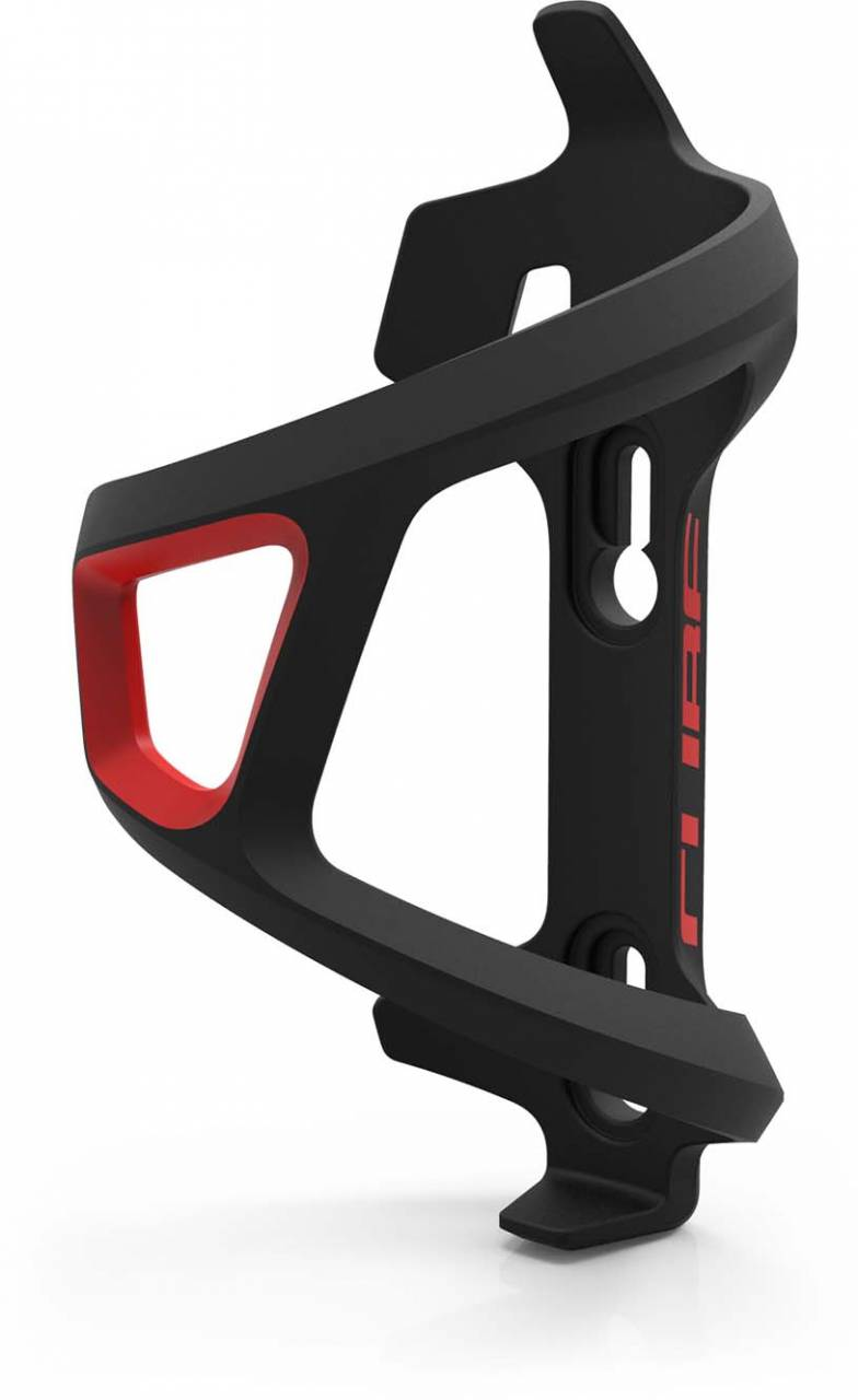Cube Flaschenhalter HPP Left-Hand Sidecage black n red