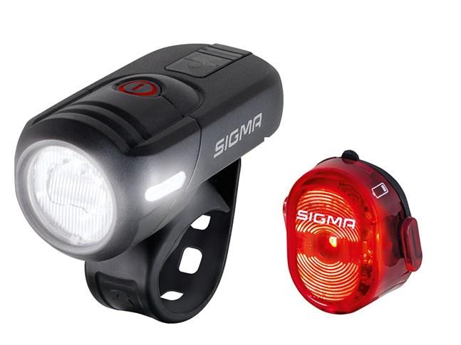 SIGMA LED Beleuchtungs Set Aura 45 FL +Nugget II schwarz