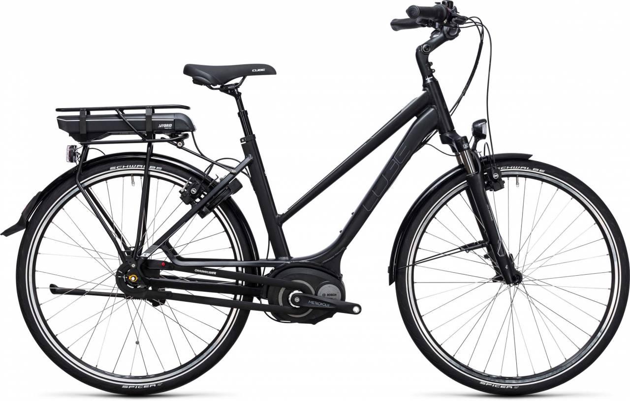 Cube Travel Hybrid 500 black n white 2017 - Damen Trapez E-Bike Trekkingrad
