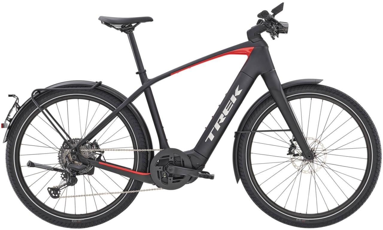 Trek Allant+ 9.9S Matte Trek Black 45km/h 2021 - E-Bike Trekkingrad Herren