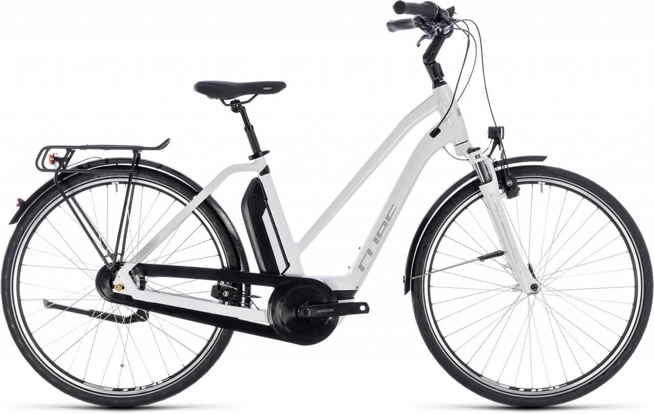 Cube Town Hybrid ONE 500 white n silver 2018 - Damen Trapez E-Bike Trekkingrad