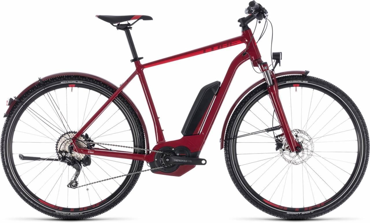Cube Cross Hybrid Pro Allroad 500 darkred n red 2018 - Herren E-Bike Crossrad