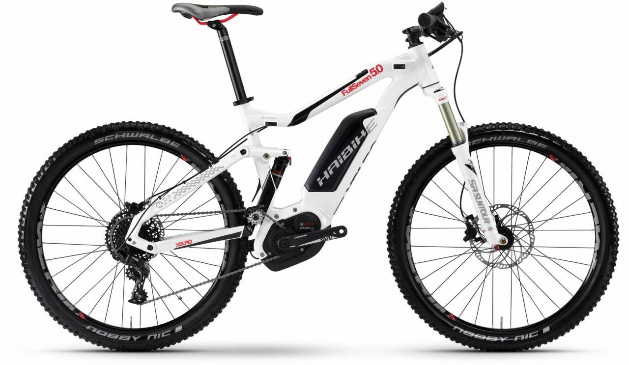 Haibike XDURO FullSeven 5.0 500Wh weiß/schwarz/rot 2017 - E-Bike Fully Mountainbike