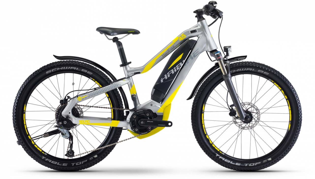 Haibike SDURO HardFour Life St. 4.5 400Wh silber/neon gelb 2017
