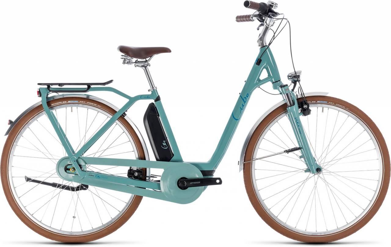 Cube Elly Cruise Hybrid 400 pistachio n blue 2018 - Tiefeinsteiger Retro E-Bike Trekkingrad