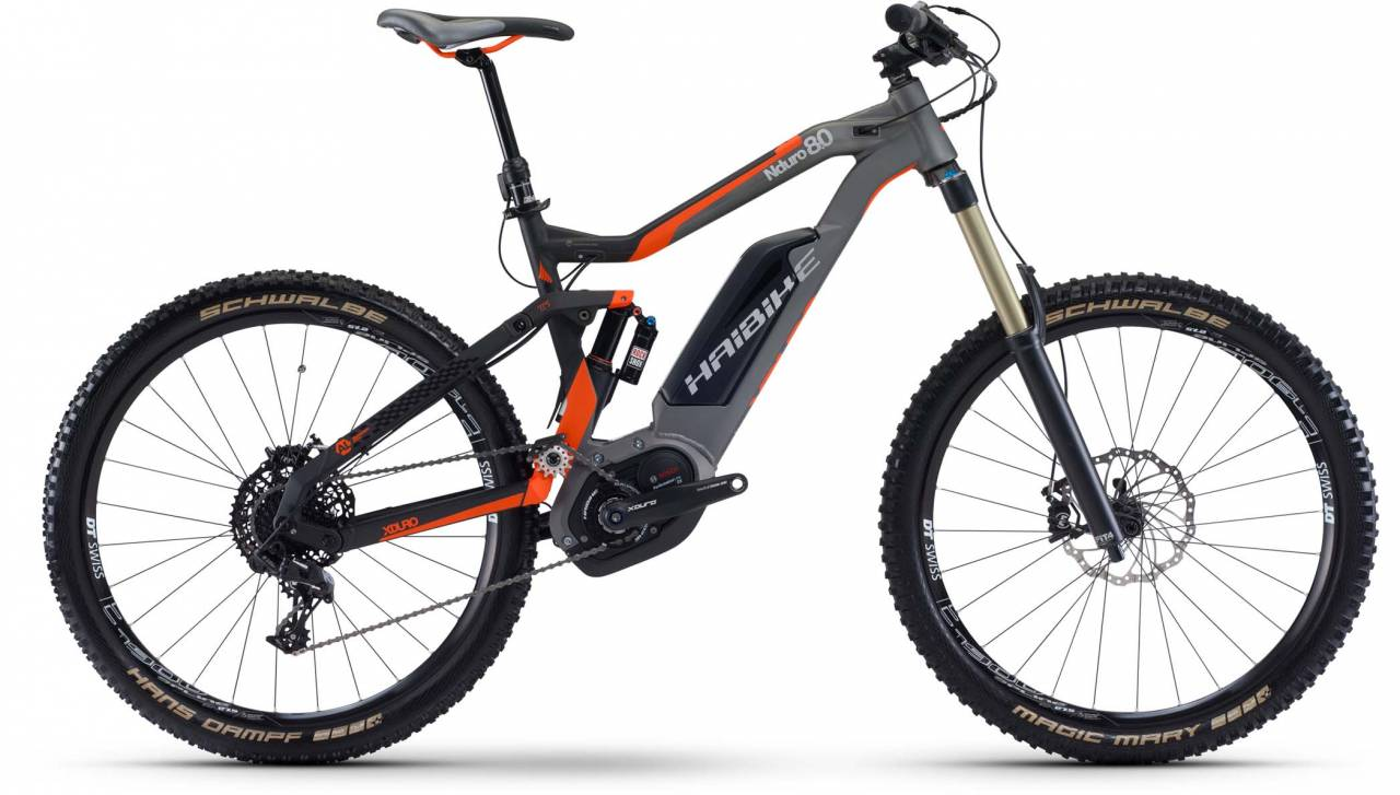 Haibike XDURO NDURO 8.0 500Wh sz./titan/orange matt 2017 - E-Bike Fully Mountainbike