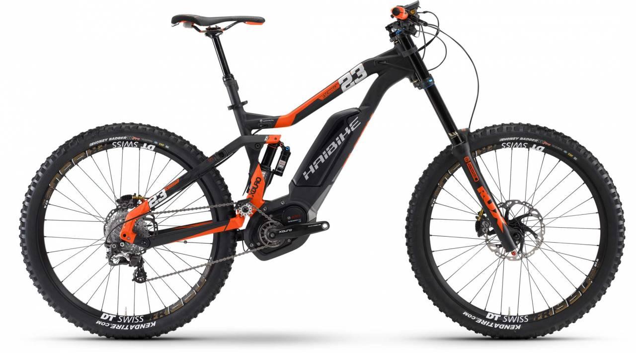 Haibike XDURO TSCHUGG 23 500Wh schwarz/rot matt 2017 - E-Bike Fully Mountainbike