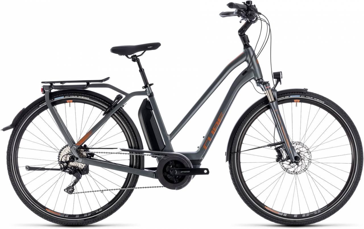 Cube Town Hybrid Sport Pro 500 grey n copper 2018 - Damen Trapez E-Bike Trekkingrad