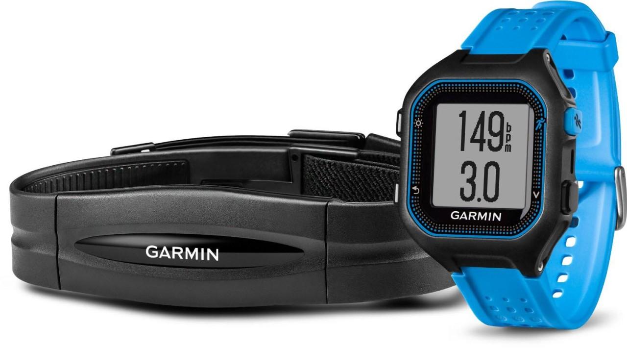 Garmin Forerunner® 25 Schwarz/Blau mit Standard Herzfrequenzsensor