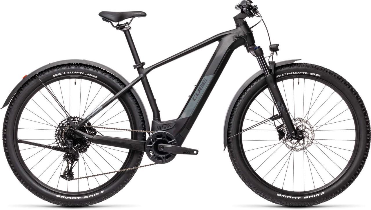 Cube Reaction Hybrid Pro 500 29 Allroad black n grey 2021 - E-Bike Hardtail Mountainbike