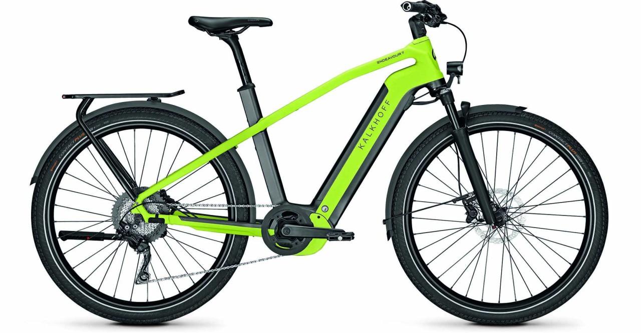 Kalkhoff Endeavour 7.B Move diamondblack/integralegreen matt (Diamond) 2021 - E-Bike Trekkingrad Her