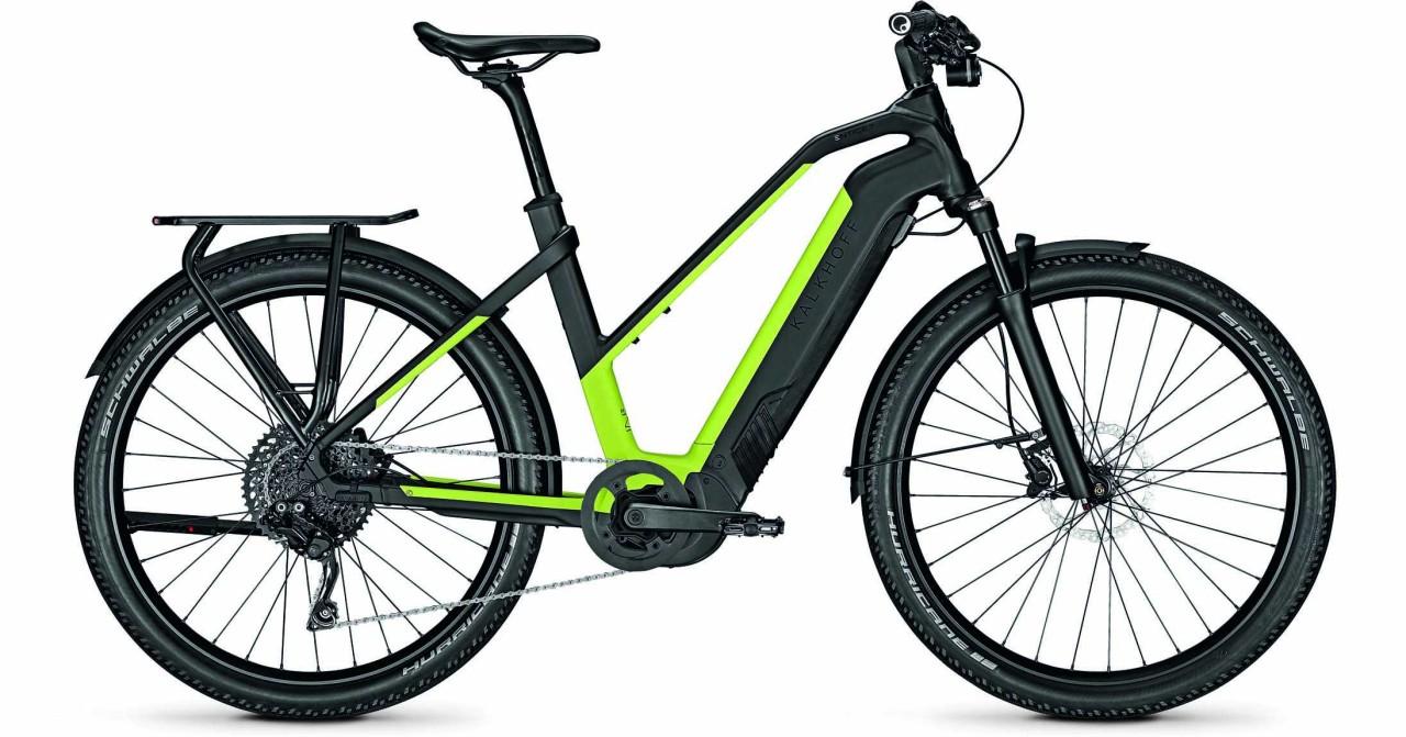Kalkhoff Entice 7.B Move magicblack/integralegreen matt (Trapez) 2021 - E-Bike Trekkingrad Damen