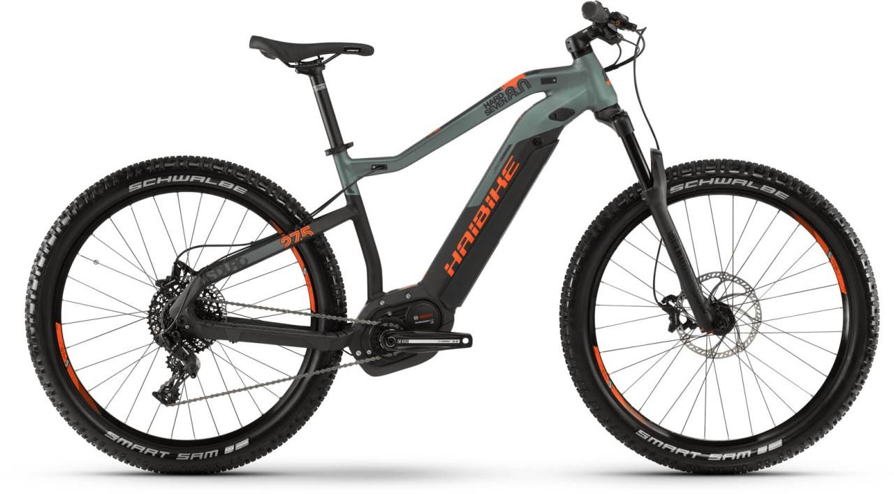 Haibike SDURO HardSeven 8.0 i500Wh schwarz/olive/orange matt 2019